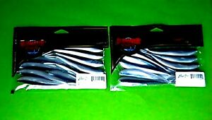 2 PACKS LUNKER CITY 4quot; FIN S FISH quot;ALEWIFEquot; 10 COUNT PACKAGE