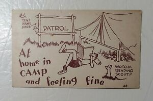 Vintage post card. 1933 quot;in Camp and Feeling Finequot;. used PA cancel