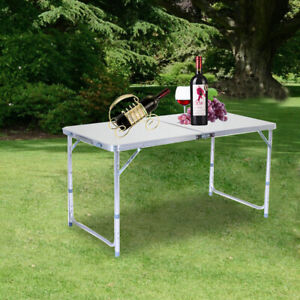 Folding Camping Table Indoor Outdoor BBQ Portable Plastic Picnic Table Travel US