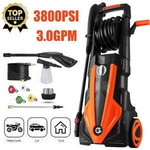 3800PSI Pressure Washer 3.0GPM Portable Electric High Power Washer Machine 2000W $158.99