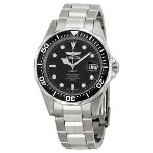 Invicta Pro Diver Black Dial Stainless Steel Men#x27;s Watch 8932