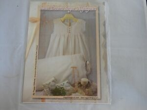 Sweet Dreams Serger Nightgown Pattern French Sewing Peggy Dilbone UNCUT $9.00