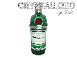 New CRYSTALLIZED Empty Liquor Wine Champagne Gin Bottle Bling Genuine Crystals $100.00