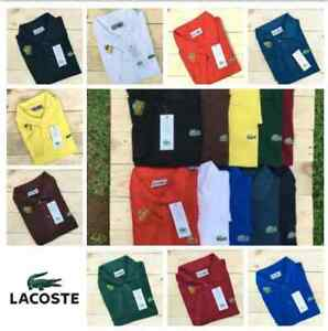 NEW MENS LACOSTE SHORT SLEEVE CLASSIC FIT COTTON POLO GOLF SHIRT SMLXLXXL $49.99
