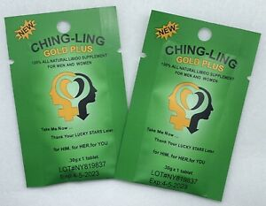 2 Packs of Ching A Ling Gold Plus New Kind 100% Original And Natural Unisex $19.99