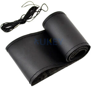 Car Hand Sewing Steering Wheel Cover DIY GENUINE UFL Leather Non Slip 15quot; 38cm $8.54