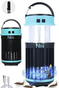 Rechargeable Camping Lantern with Bug Zapper Stretchable Anti Mosquito Led Lamp