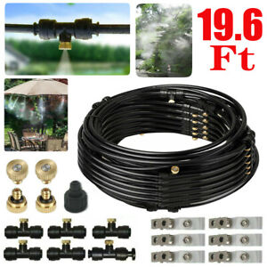 19.6FT Misting Cooling System Fan Cooler Garden Patio Water Mister Mist Outdoor