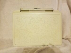 Vintage Sears Kenmore Portable Sewing Machine Rose Case Parts $125.00