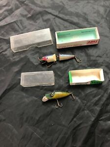 2x Used boxed Vintage Abu Sweden lure And Shakespeare Lure