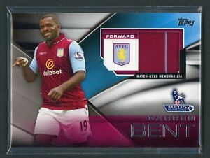2014 DARREN BENT JERSEY TOPPS BARCLAYS PREMIER LEAGUE MATCH USED MEMORABILIA