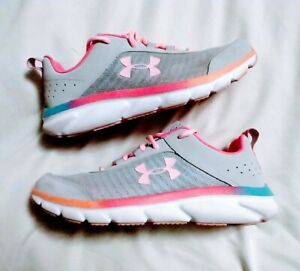 *EUC* Under Armour Shoes Womens 8 or 6.5Y * Vibrant in Person $29.00