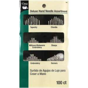 Deluxe Hand Needles Assorted 100 Pkg 072879282160 $9.74