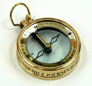 Brass Vintage Repro Spencer Co. London 1905 Nautical Compass Magnifying Glass $18.69