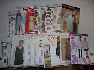 Assorted Sewing Patterns Assorted Sizes Assorted Brands $1.80