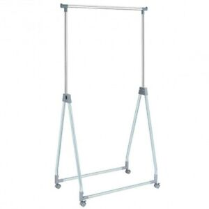 Extendable Foldable Heavy Duty Clothing Rack with Hanging Rod Color: Silver $69.41