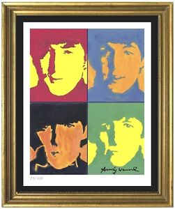 """Andy Warhol """"Beatles"""" Authentic Signed amp; Numbered Limited Ed Print unframed $96.99"""