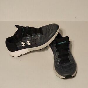 Under Armour shoes womens size 9 Will run fast sneakers black gray $19.99