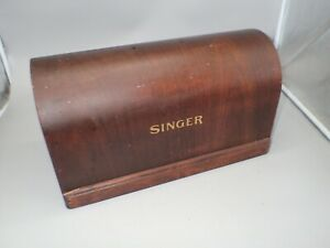 Vintage Singer Sewing Machine Bentwood Dome 3 4 Size Carry Case TOP ONLY $29.99