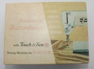 Vtg Singer Machine Touch amp; Sew Button Holer 161829 Buttonholer Attachment in Box $11.95