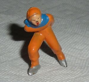 VINTAGE Barclay Lead quot;Man Speed Skater In Orangequot; B180 Near Mint Cond F S Lot J