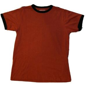 OLD NAVY Women's Size XL Red Tee T shirt with Navy Collar Sleeve Trim $7.00