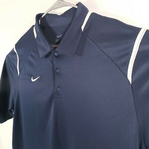 Under Armour Golf Polo Heat Loose Gear Shirt Mens Size X Large XL Blue White $19.77