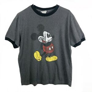 Vintage Disney Mickey Mouse Collar Sleeve T shirt Size M $19.99