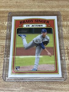 2021 Tops Heritage BRADY SINGER In Action RC Rookie Card No.130. KC ROYALS $1.25