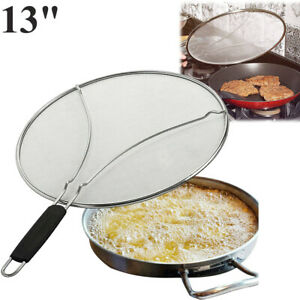 13 Splatter Screen Stainless Steel Grease Guard Shield for Frying Pan Cooking