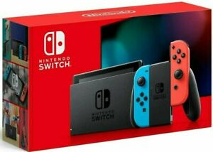 Nintendo Switch Console 32GB Memory with Neon Blue and Neon Red Joy Cons V2 $299.99