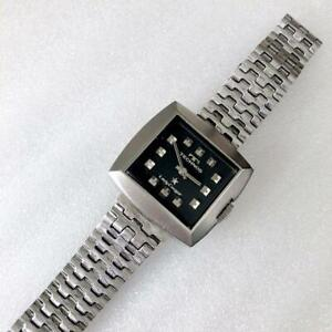 ​Technos Lady Cougar Swiss Full Steel A121927 Black Dial Stainless Ladies Watch $188.00