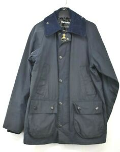 Barbour Bedale Men Long Sleeves Concealed Zip Tailored Fit Classic Wax Jacket 34 $195.99