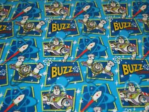 Toy Story Buzz Lightyear Space Ranger Flannel Fabric CP19928 Buzz Patch Springs $19.99