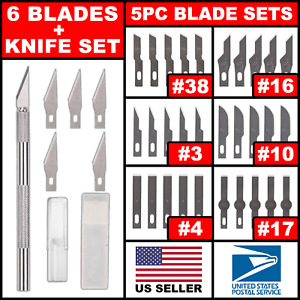 Hobby Exacto Knife X Acto Set Blades Handle For Craftsman Craft Tool Precision $4.99