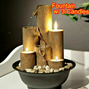 TABLETOP FOUNTAIN WATER WATERFALL ZEN RELAXATION SOOTHING SMALL DECOR INDOOR NEW $39.99