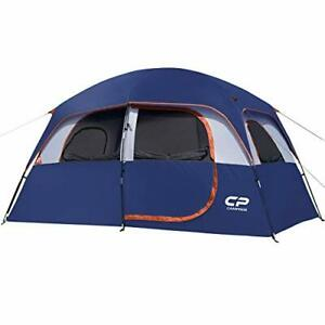CAMPROS Tent 6 Person Camping Tents Waterproof Windproof Family Tent with Top...
