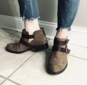 B.O.C. Brown Harness Classic 9 Ankle Soft Western Used Boots