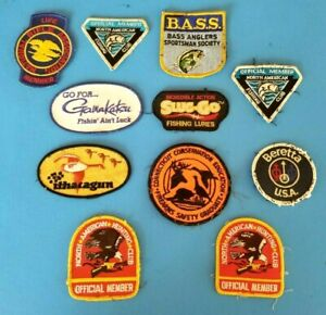 Hunting Fishing Gun Sew On Mixed Patch Lot 11 Patches