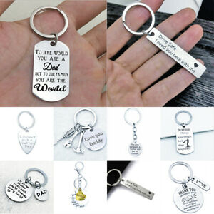 Fathers Day Gifts Keychain Dad Daddy Father Birthday KeyRings Gift Men Present