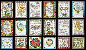 Mottos to Live By Mary Engelbreit 1 Panel 23.5quot;