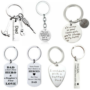 Gifts Dad Daddy Fathers Day Father Birthday Gift Keychain Anniversary Present