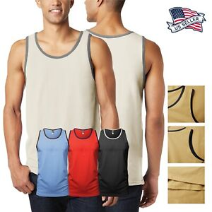 Mens TANK TOP Shirt Casual Sleeveless Tee Gym Jersey Athletic Solid Beach Basic
