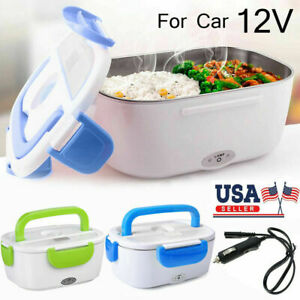 Heating Lunch Box Portable Car Electric Heat Warmer Container Food Heater Bento