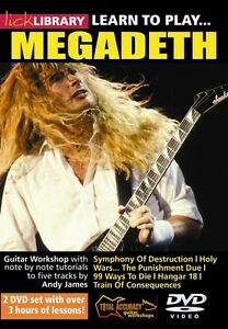 Lick Library LEARN TO PLAY MEGADETH Guitar VIDEO Lessons 2 DVD with Andy James $24.95