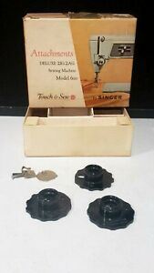 SINGER BOX AND DISCS 1 4 5 FOR MODEL 600 DELUXE ZIG ZAG SEWING MACHINE $24.95