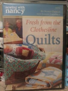 Sewing with Nancy Sewing Fresh From The Clothesline Quilts 📀 DVD NEW RARE $15.00