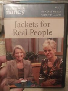 Sewing With Nancy 📀 DVD Jackets For Real People NEW sealed $25.00