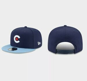 Chicago Cubs SNAPBACK 9FIFTY Navy Light Blue 2021 City Connect Adjustable Hat $85.00