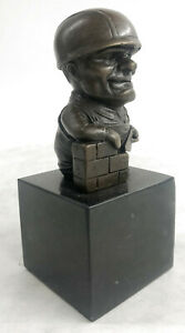Collector Edition Worker Hand Cast Bronze Sculptures Mounted on Black Marble Art $74.96